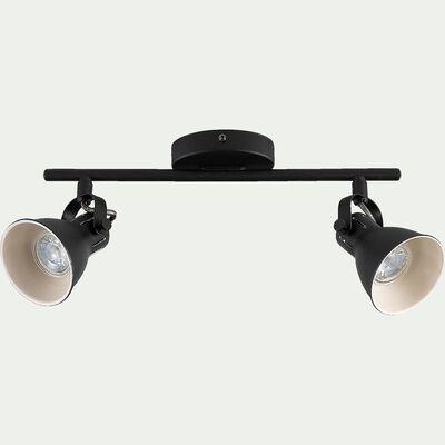 Barre de 2 spots LED L37xH6,50cm - noir-SERAS