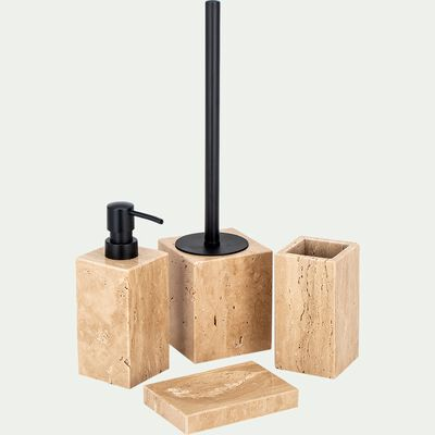 Set de salle de bain en travertin- naturel-ANDRIA