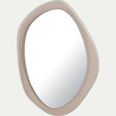 Miroir abstrait en bois - rose simos 35x50cm-ACOIRA
