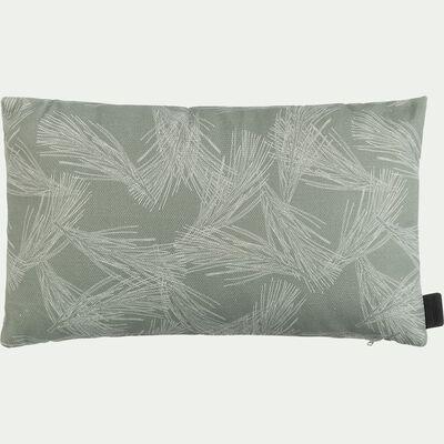 Coussin cale dos d'extérieur déperlant - vert cèdre 30x50 cm-Trayas
