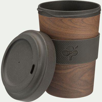 Mug en matières végétales avec manchon - marron 50cl-GINKGO