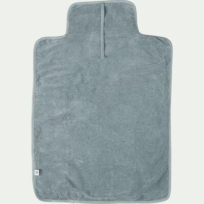 Matelas à langer bébé en coton bio avec broderie - bleu calaluna-Nuage
