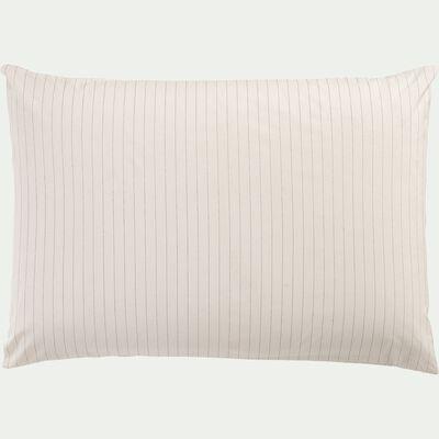 Lot de 2 taies d'oreiller en percale de coton - blanc 50x70cm-PELOUNIA
