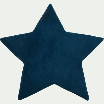 Tapis forme étoile bleu-MORGIOU