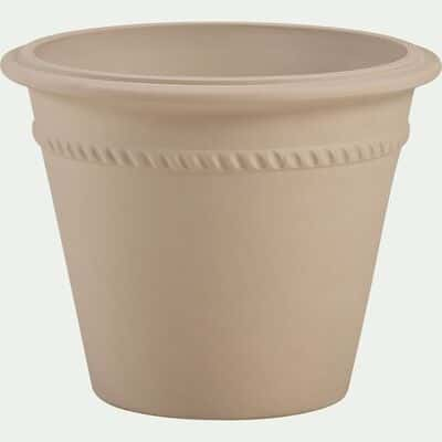 Pot de fleurs en grès - beige L47xl38cm-LOMA