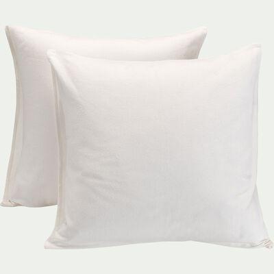 Lot de 2 protège-oreillers en coton recyclé - 65x65cm-CINA