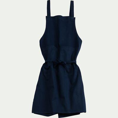 Tablier poche ventrale en coton - bleu calabrun-BOLI