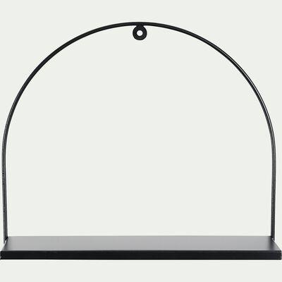 Tablette murale en fer - noir 34x41cm-AURO