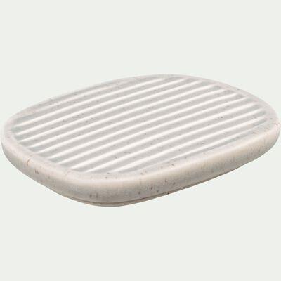 Porte savon en céramique mouchetée - beige alpilles-NANS