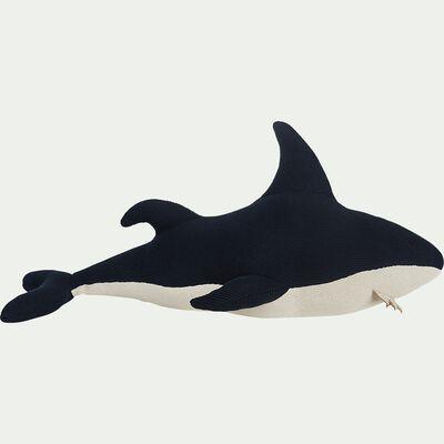 Peluche requin en coton bio - bleu L80cm-Mordius