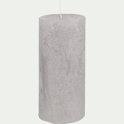 Bougie cylindrique - D7x15cm gris borie-BEJAIA
