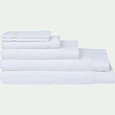 Linge de toilette en coton - blanc optique-AZUR