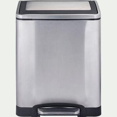 Poubelle en acier - gris 30L-SOR