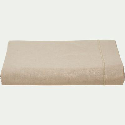 Drap plat en coton - beige alpilles 270x300cm-CALANQUES