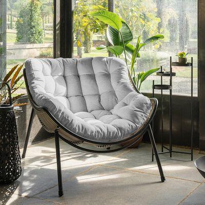 Fauteuil relax en tissu - gris borie-IBIZA