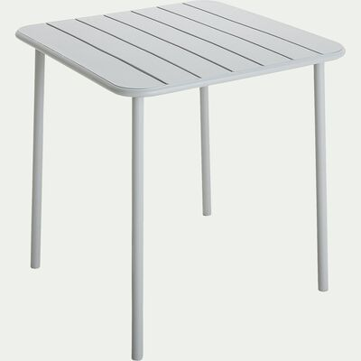Table de jardin carrée en acier - gris vesuve (2 à 4 places)-Souris