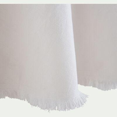 Nappe ronde avec franges - blanc D180cm-CASTILLON