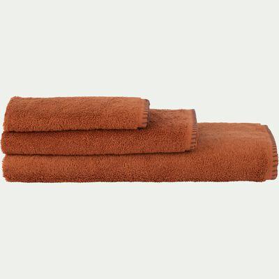 Serviette de toilette en coton - marron rustrel 50x100cm-Ynes