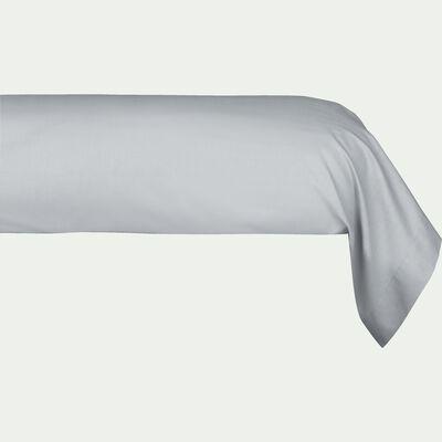 Taie de traversin en coton - gris borie 43x190cm-CALANQUES