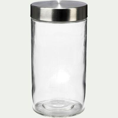 Bocal de rangement en verre avec couvercle en métal 1,68L-BROOKLIN