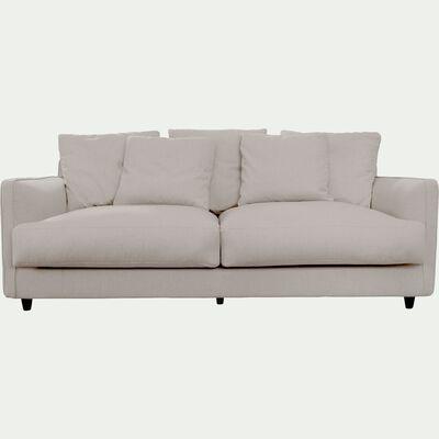 Canapé 3 places convertible en tissu - gris borie-LENITA