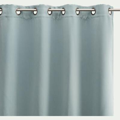 Rideau occultant à œillets en polyester - bleu calaluna 140x250cm-GORDES