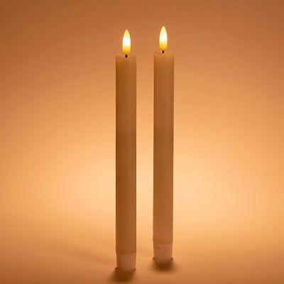 Bougie cierge électrique LED - blanc H24cm-PALANCAR