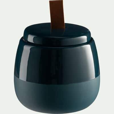 Pot à coton en grès - bleu figuerolles-SPINA