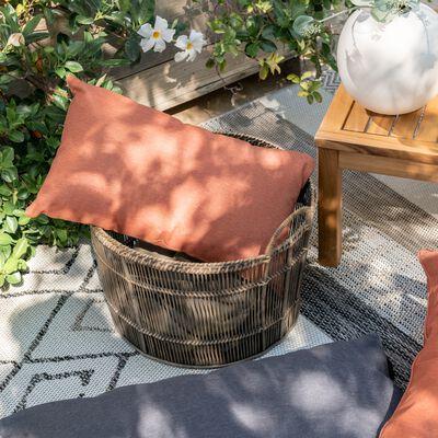 Coussin d'extérieur et intérieur déperlant - marron rustrel 50x30cm-TRAYAS