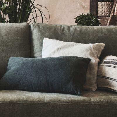 Coussin en lin lavé - blanc ventoux 45x45cm-VENCE