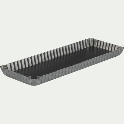 Moule à tarte rectangulaire en acier carbone 35,5cm-OLIZY