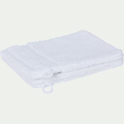 Gant de toilette en coton peigné - blanc optique-AZUR