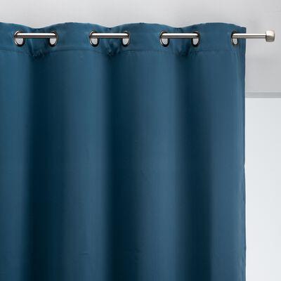 Rideau occultant à œillets en polyester - bleu figuerolles 140x250cm-GORDES