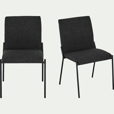Chaise en tissu - noir-JASPER