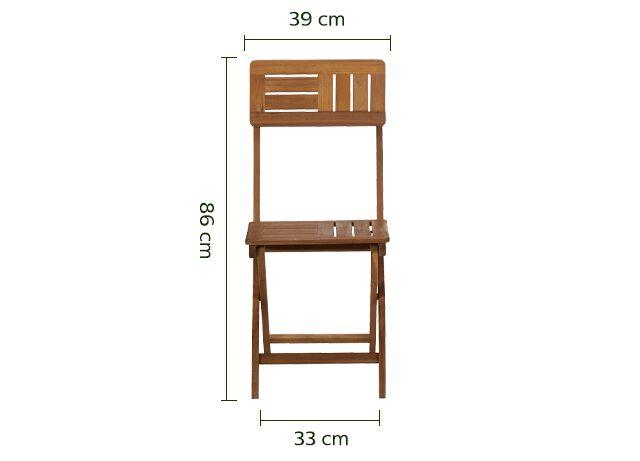 Chaise de jardin pliante en acacia huilé - naturel-Youk