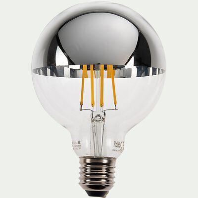 Ampoule LED déco standard lumière chaude 9W - argent D9,5cm-GLOBE