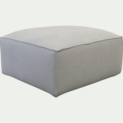 Petit pouf en tissu - L80xH40xl70cm beige roucas-REVERE
