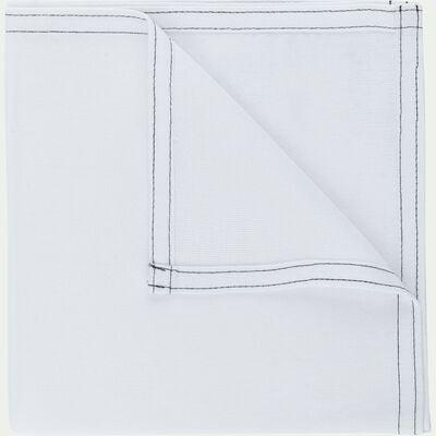 Serviette de table en coton blanc 41x41cm-VENASQUE