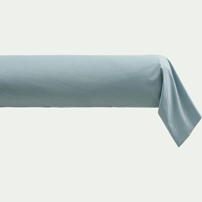 Taie de traversin en coton - bleu calaluna 43x190cm-CALANQUES