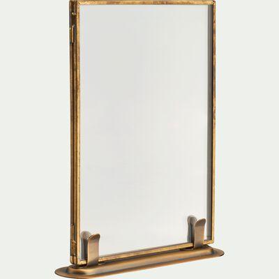 Cadre photo en métal doré 13x18cm-TIBRE