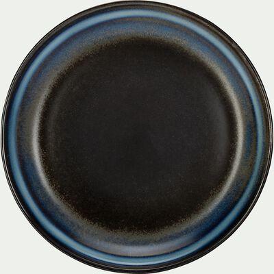 Assiette à dessert en porcelaine D20cm - noir-FERRU
