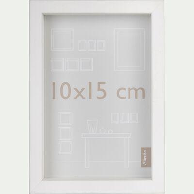 Cadre photo en bois  10x15cm blanc-HAPA