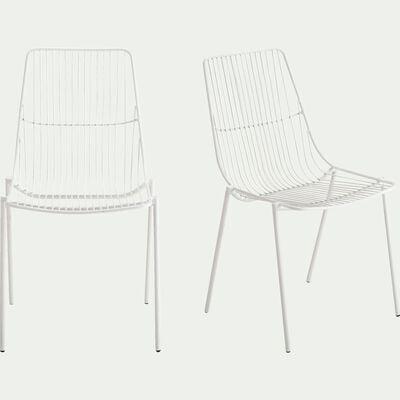 Chaise de jardin en acier - blanc-MALDI