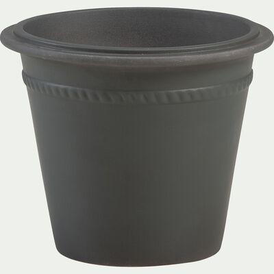 Pot de fleurs en grès - vert cèdre L35xl30cm-LIMADI
