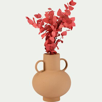 Vase avec deux anses en grès - beige H25,5cm-PALMA