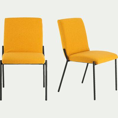 chaise en tissu - jaune-JASPE