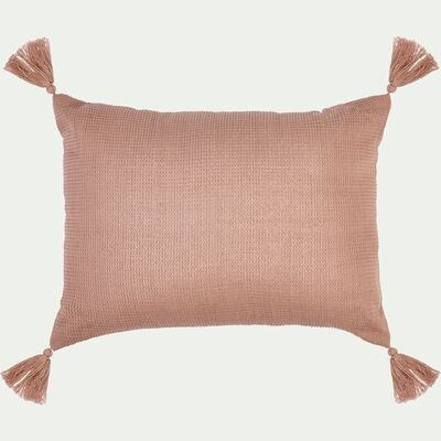 Coussin rectangle en coton 30x40cm - rose salina-Songe
