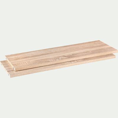 Lot de 2 tablettes en bois - bois clair L75cm-Biala
