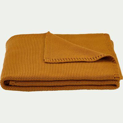 Plaid enfant en coton 80x100cm - jaune moutarde-Malina