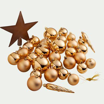 Lot de 33 décorations de Noël doré-Peire